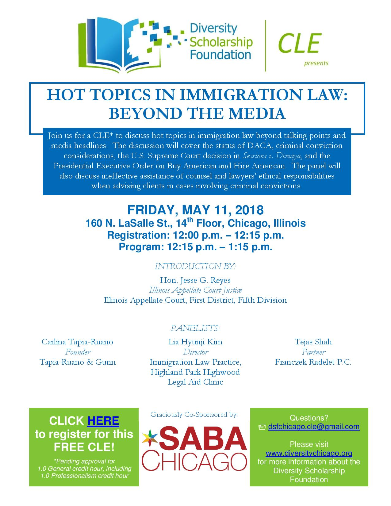 Hot Topics In Immigration Law South Asian Bar Association Of Chicago